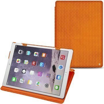 iPad Pro Noreve Tradition Nahkakotelo Horizon Abaca Oranssi