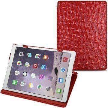 iPad Pro Noreve Tradition Nahkakotelo Horizon Autruche Kirsikka
