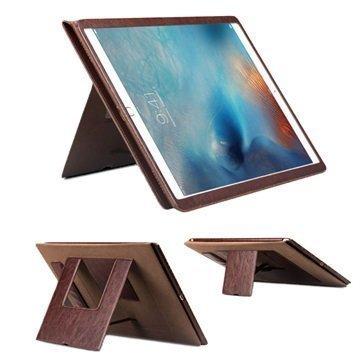 iPad Pro Qialino Multifunctional Smart Folio Nahkakotelo Ruskea
