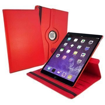 iPad Pro Tuff-luv Pyörivä Smart Kotelo Punainen