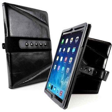 iPad Pro Tuff-luv Tri-Axis Western Nahkakotelo Musta