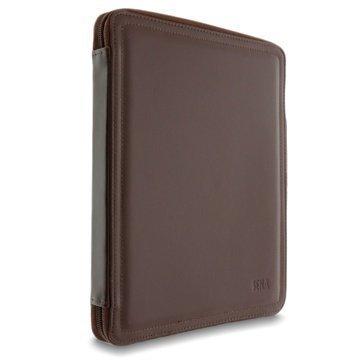 iPad Sena ZipBook Nahkakotelo Ruskea