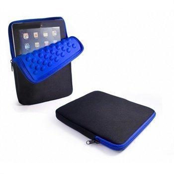 iPad iPad 2 iPad 3 iPad 4 Tuff-Luv Armour-prene Bubble Kotelo Musta / Sininen