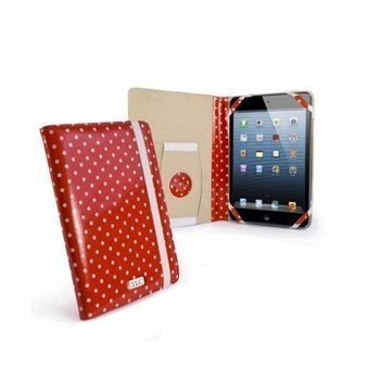 iPad mini 2 iPad mini 3 Tuff-Luv Embrace Plus Pilkullinen Kotelo Punainen