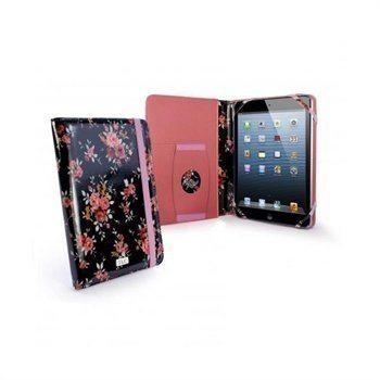 iPad mini 2 iPad mini 3 Tuff-Luv Embrace Plus Secret Garden Kotelo Musta