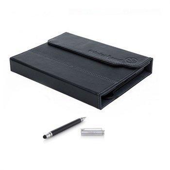 iPad mini 2 iPad mini 3 Waterkant Logbuch Folio Nahkakotelo ja Stylus Duo -kynä Musta