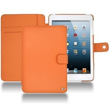 iPad mini Noreve Tradition Wallet Leather Case Orange