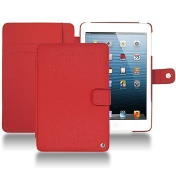iPad mini Noreve Tradition Wallet Leather Case Tomate
